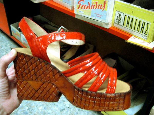 Galides shoe shop. Nicosia. July '09. Photo: Chloe Skarparis. all rights reserved