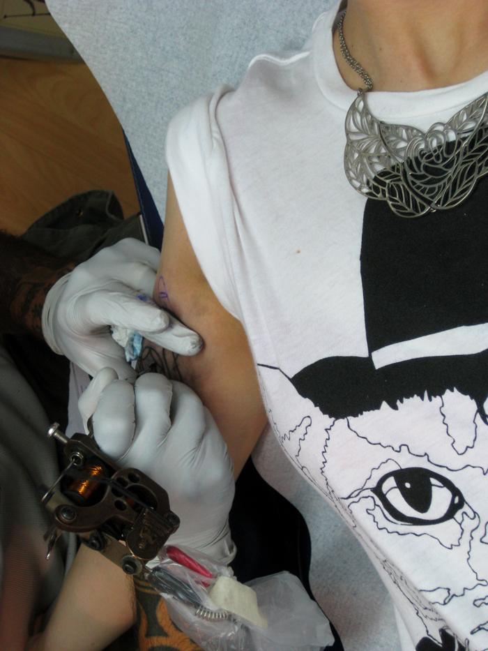 tattoed. Nicosia. July '09. Photo: Cloe Skarparis. all rights reserved