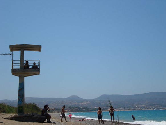 the old lifesavers tower. Polis Pafos. July '08. Photo: Shona M. all rights reserved