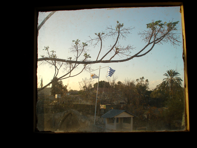 window view in old Nicosia town. Photo: Shona M. all rights reserved